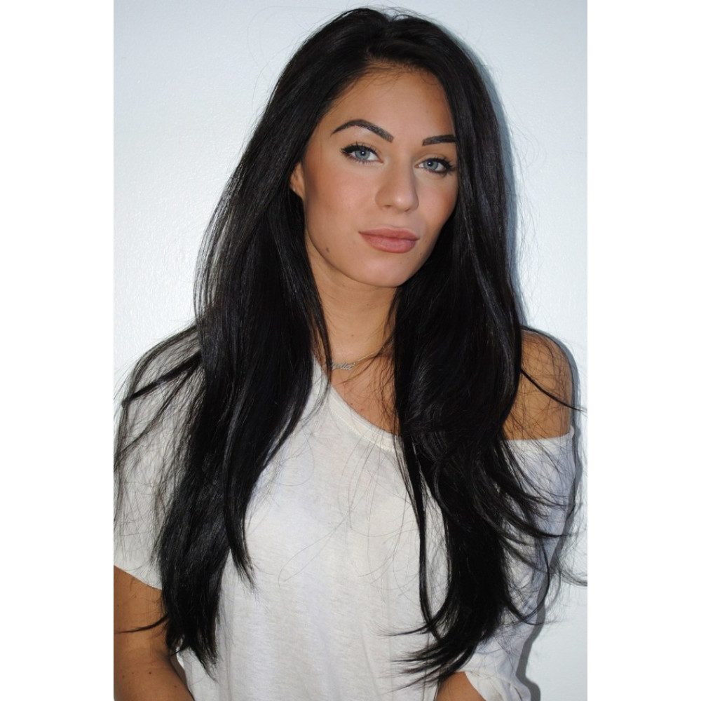 Natural Black Flip In Halo Hair Extension