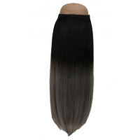Ombré Natural Black to sterling silver  #1B/SG Halo Hair Extension