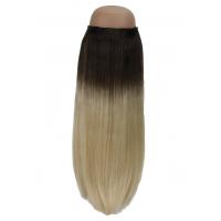 Ombré Dark Brown to Platinum Blonde #2/60 Halo Hair Extension