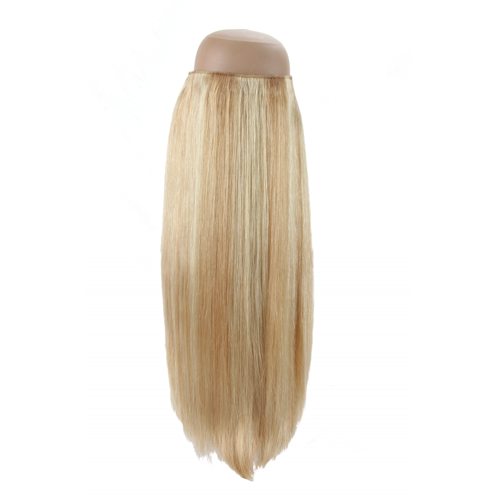 Light Blonde With Honey Blonde Highlights P27613 Halo Hair Extension