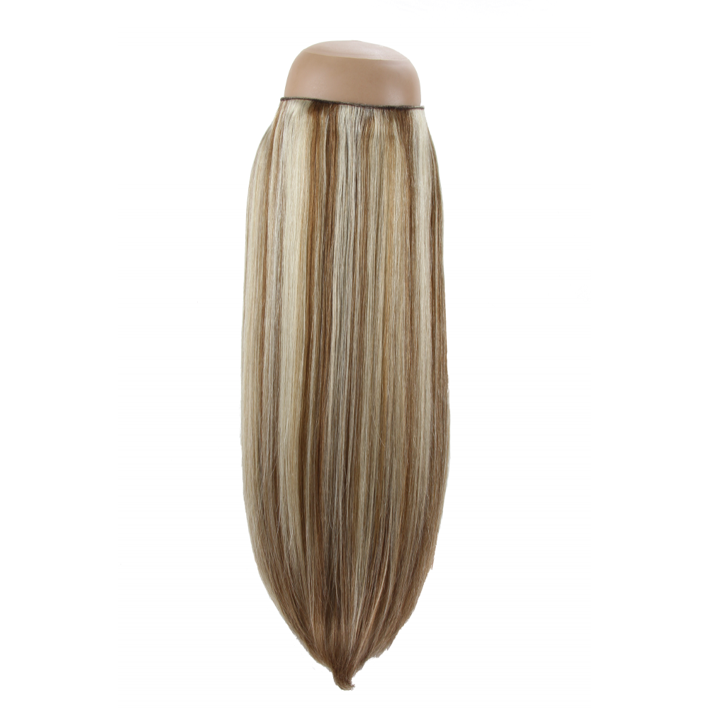 Rapunzels halo hair extensions platnium blonde with light brown lowlights p608 halo hair extension pmusecretfo Choice Image