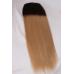 Ombré Dark Brown to Caramel Blonde #2/18  Halo Hair Extension
