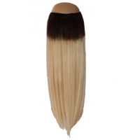 Ombré Dark Brown to Golden Blonde #2/24 Halo Hair Extension